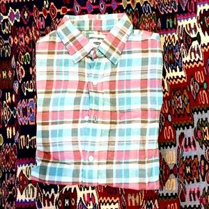 Old Navy Plaid button down shirt